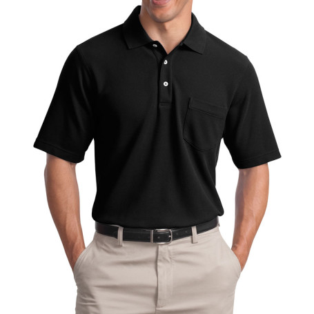 Port Authority EZCotton Pique Pocket Polo