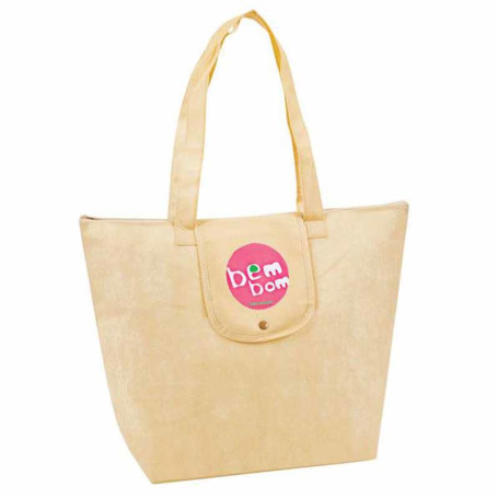 "Monogrammed ""eGREEN"" Fold-Up Tote"