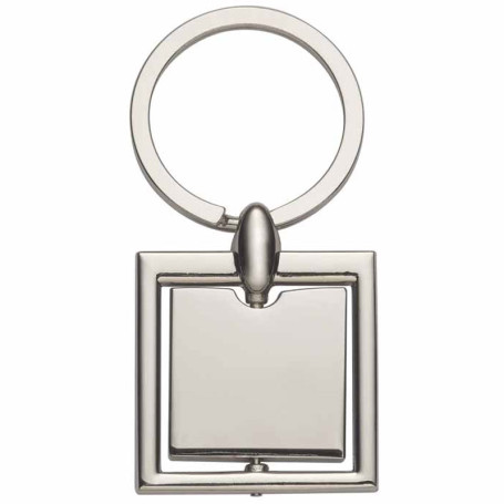 Monogrammed Square Metal Key Tag