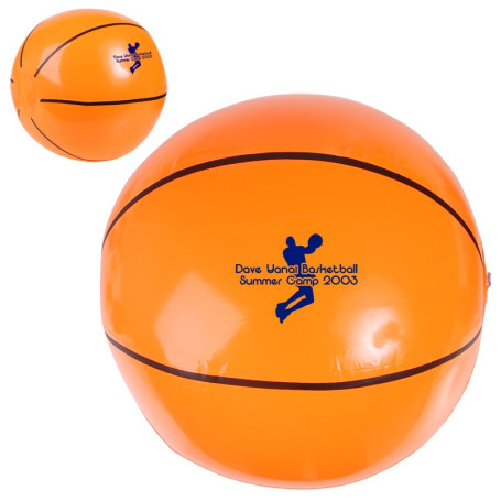"Personalized-14""-Basketball-Beach-Ball"