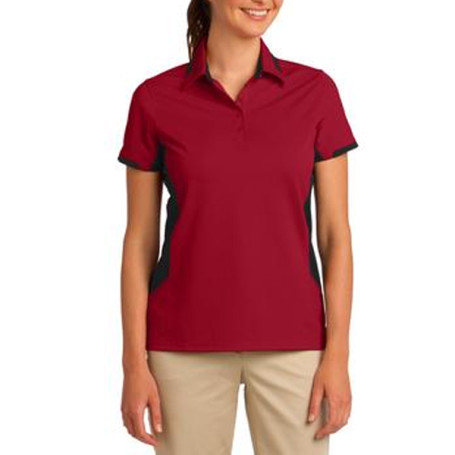 Port Authority Ladies Dry Zone Colorblock Ottoman Polo