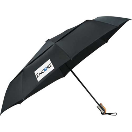 "Printed 46"" Chairman Auto Open/Close Vented Umbrella"