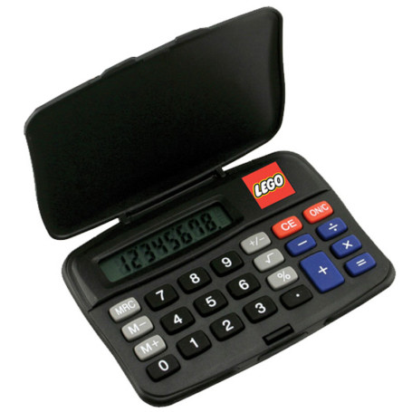 Promotional Printed Compact Calculator w/ Cover