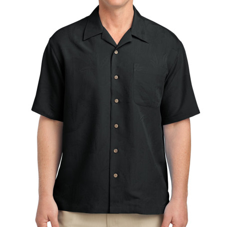 Port Authority Patterned Easy Care Camp Shirt (Apparel)