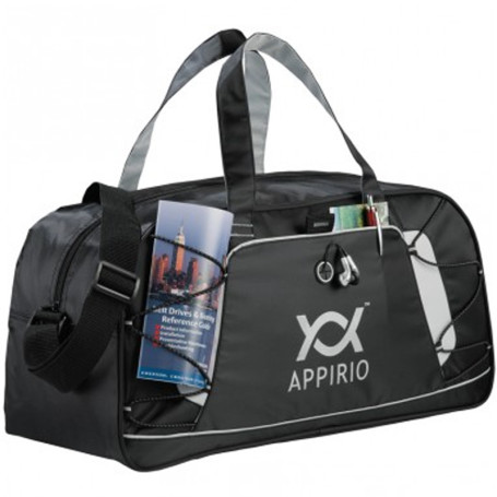 Personalized Shockwave Sport Duffel - gray printed