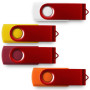 2GB Red Swivel USB Memory Stick