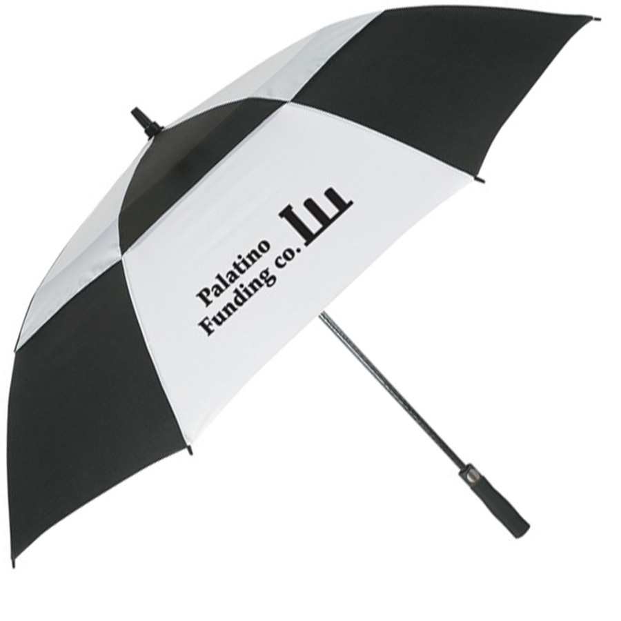"Logo 58"" Arc Vented, Windproof Umbrell"