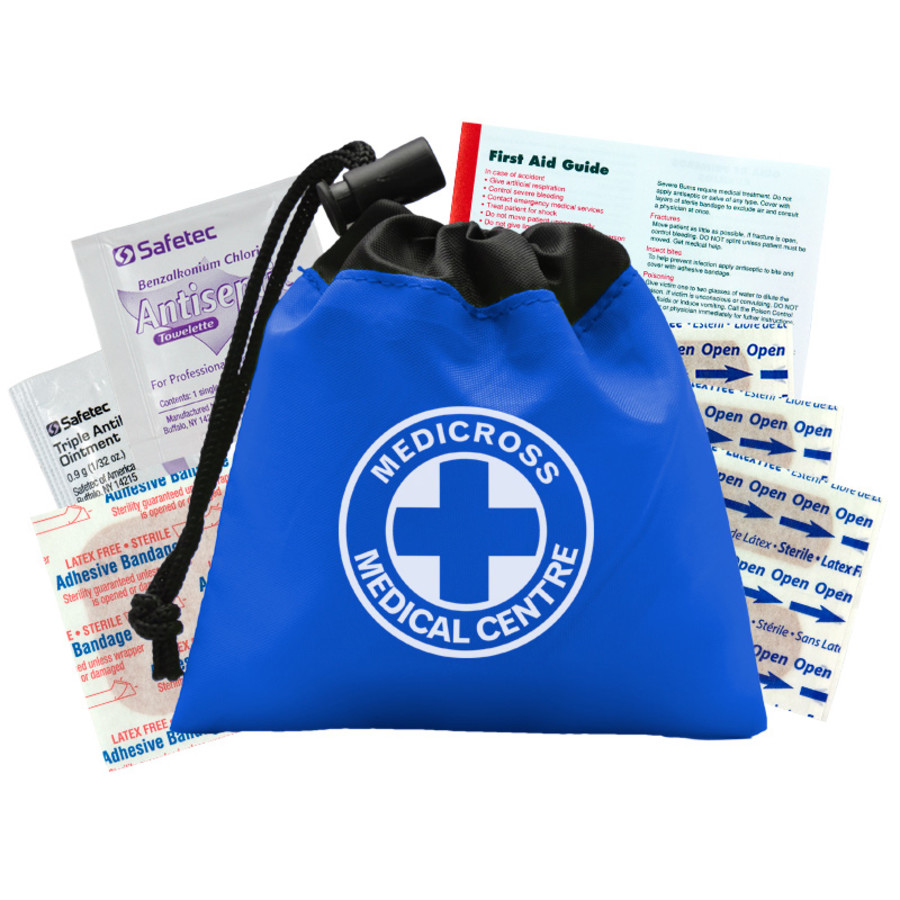 Imprinted Cinch Tote First Aid Kit