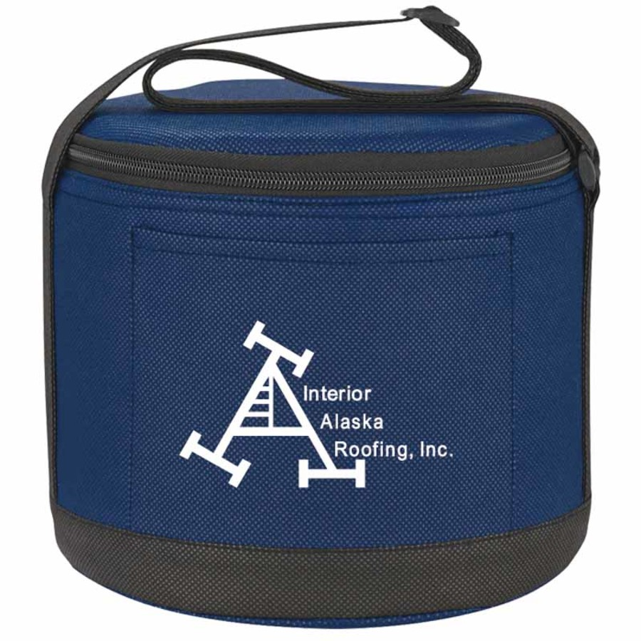 Logo Cans-To-Go Non-Woven Round Kooler Bag