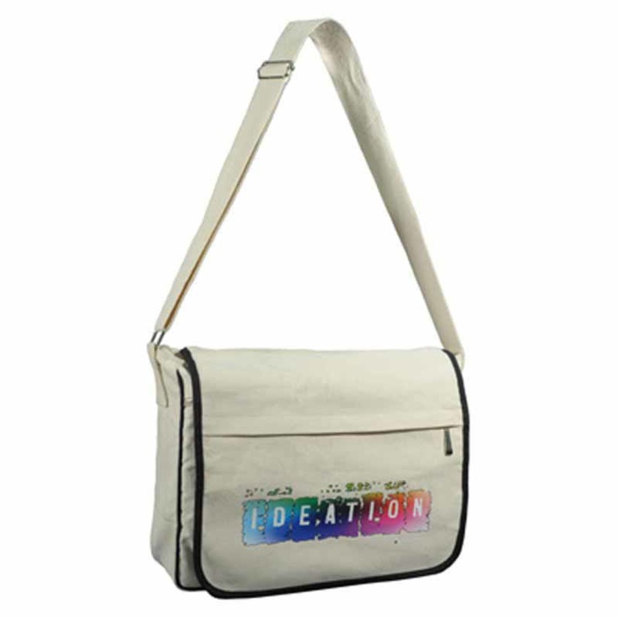 Promotional Canvas Messenger Bag