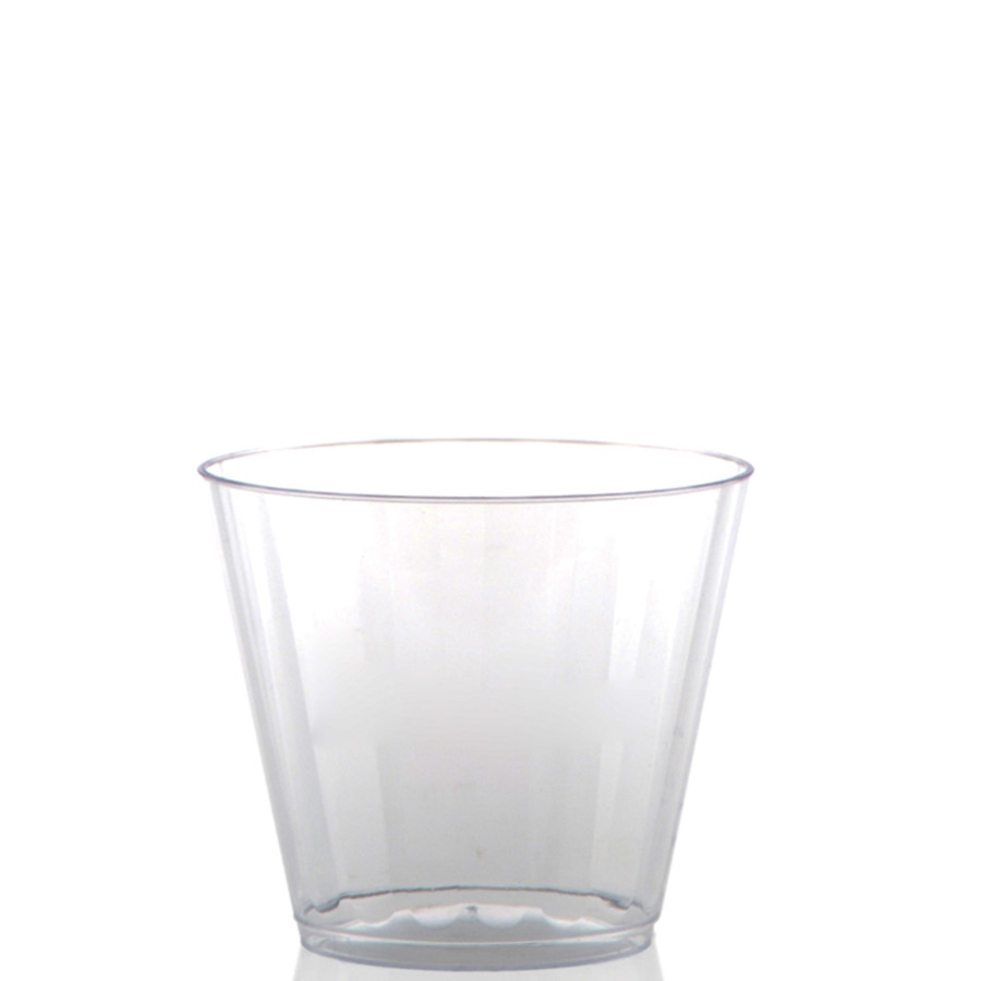 9 oz. Clear Fluted Plastic Rocks Cups