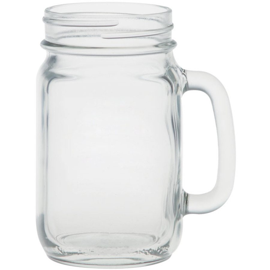 16 oz Handled Glass Jar