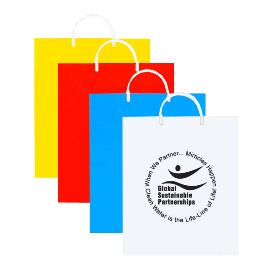 Logo Imprinted Plastic Shopping Bag