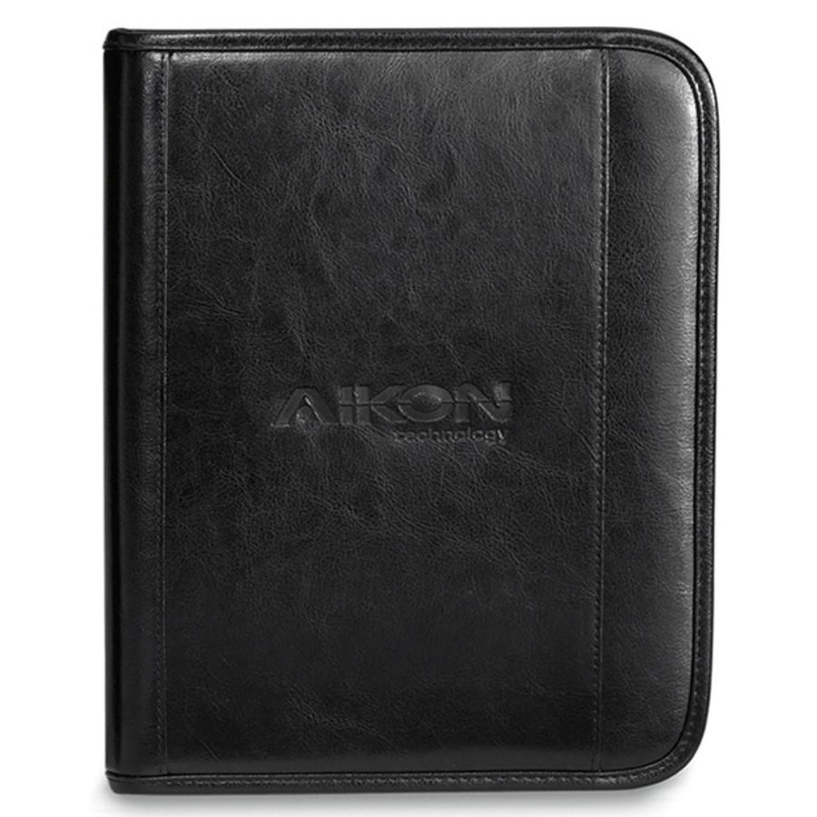 Custom Deluxe Leather Wired-E Padfolio