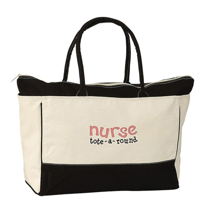 Custom Large Cotton Zip Tote