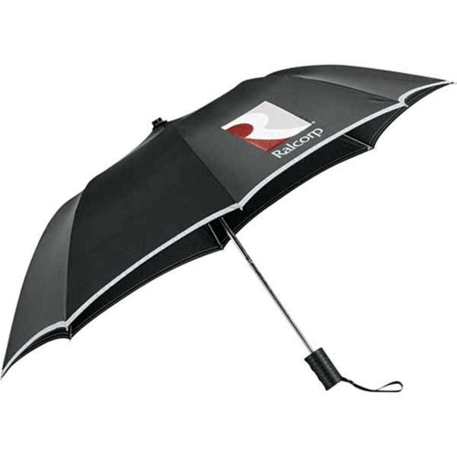 "Custom Printed 42"" Auto Folding Safety Umbrella"