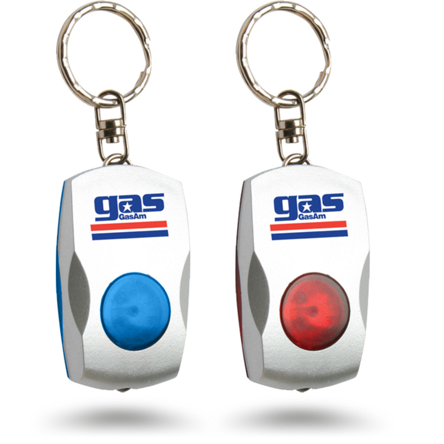 Printed Logo LED Light Keychain
