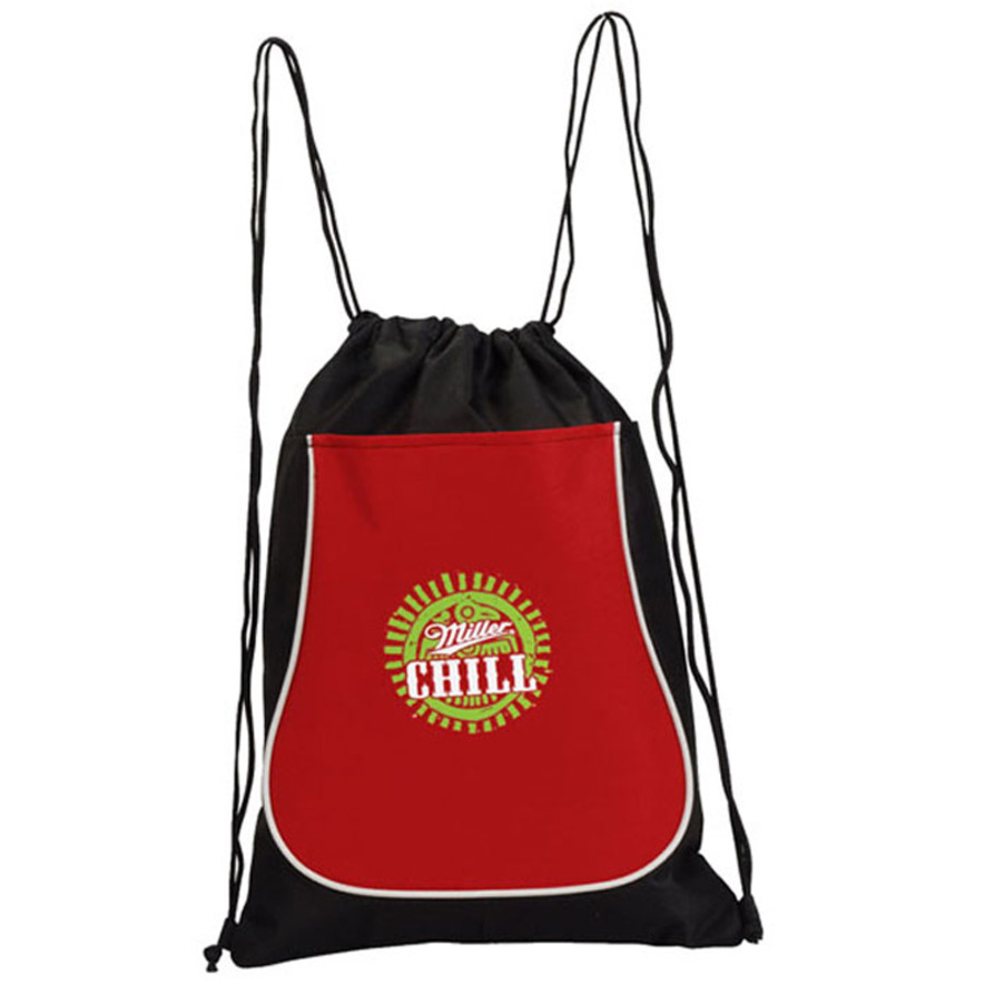 image about Printable Backpacks named Custom made Recycollection Drawstring Backpack