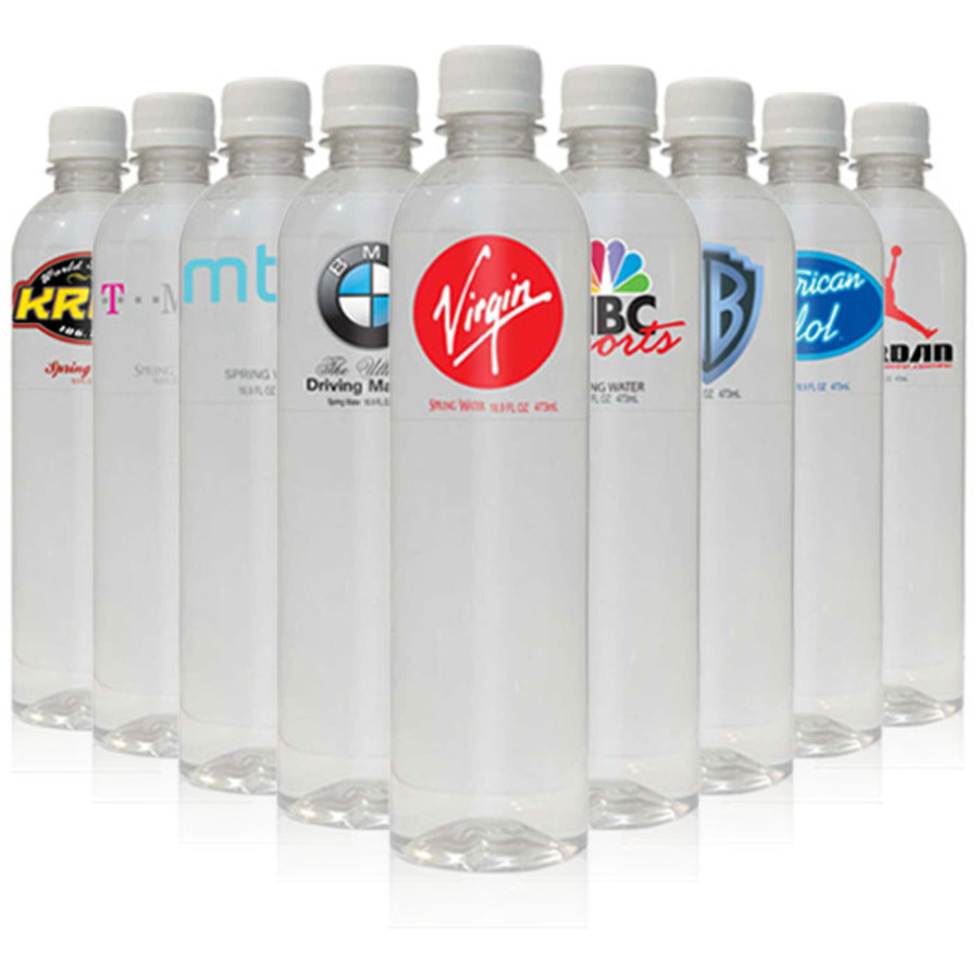 16.9 fl oz Custom Printed Bottled Water