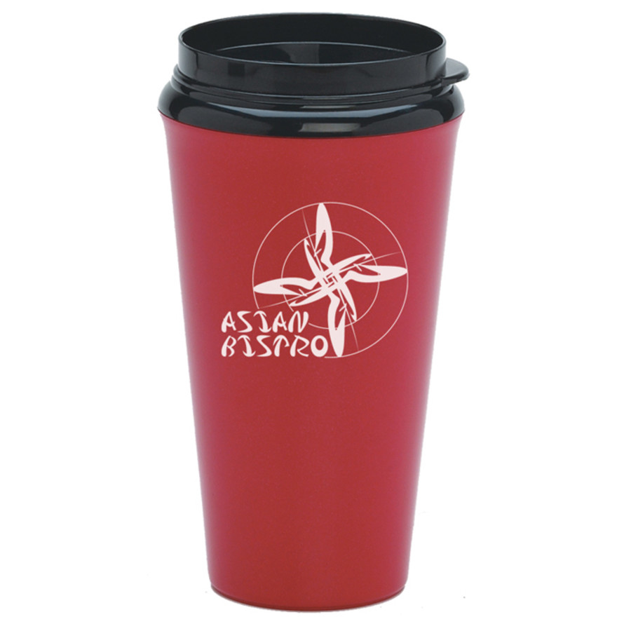 Customizable 16 Oz. Infinity Tumbler with Plastic Sip Thru Lid