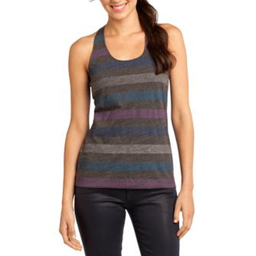 District Juniors Reverse Striped Scrunched Back Tank