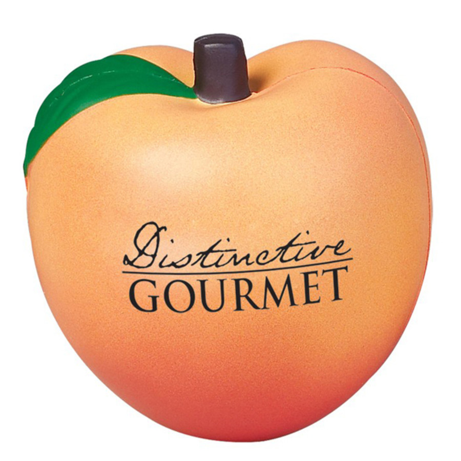 Engraved Peach Stress Reliever