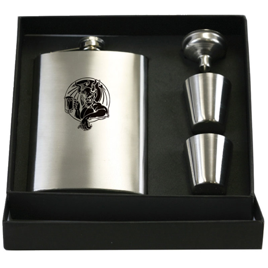 Stainless Flask Gift Set