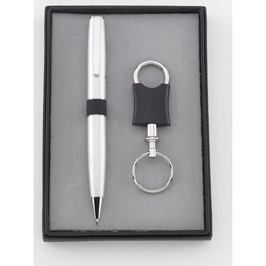 Customizable Pen & Pewter Keychain