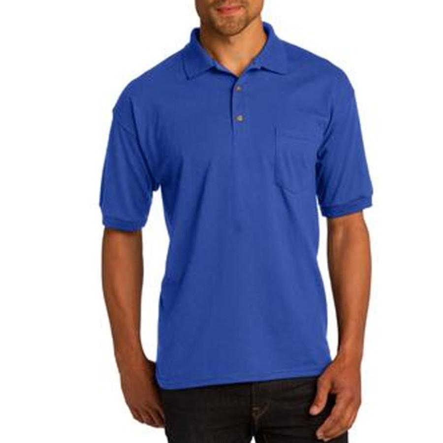 Gildan Dry-Blend 5.6-Ounce Jersey Knit Sport Shirt with Pocket