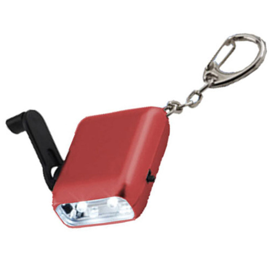 Hand Crank Flashlight Keychain