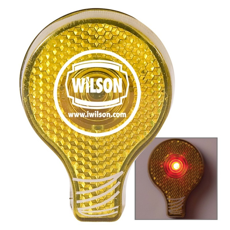 Logo Light Bulb Flashing Button