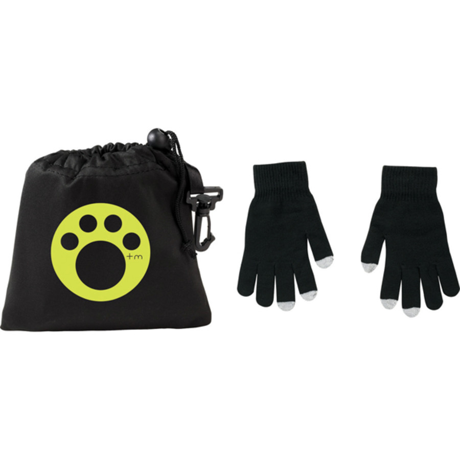 Logo Touchscreen Gloves - Large Size