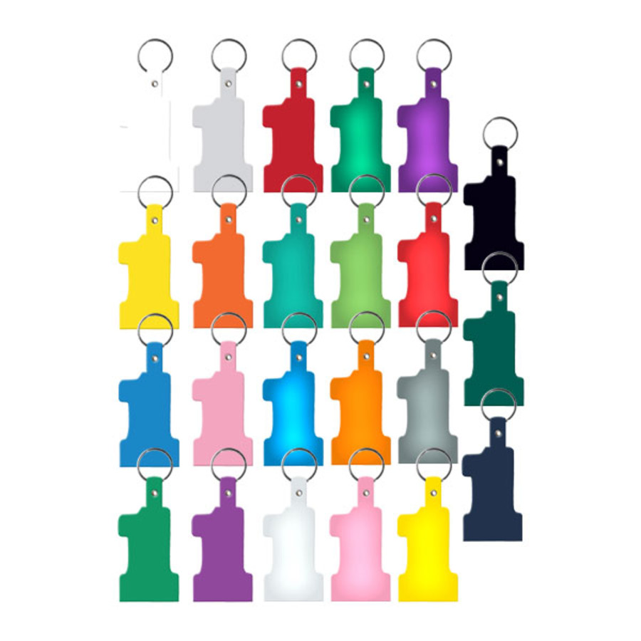 Monogrammed No.1 Flexible Key Tag