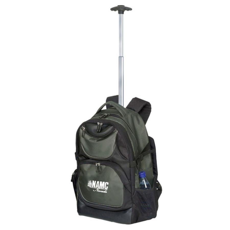 Monogrammed Rolling Computer Backpack