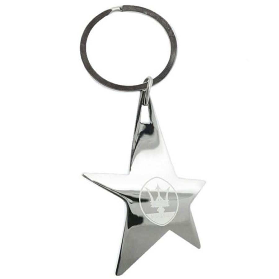Monogrammed Silver Stella Key Chain