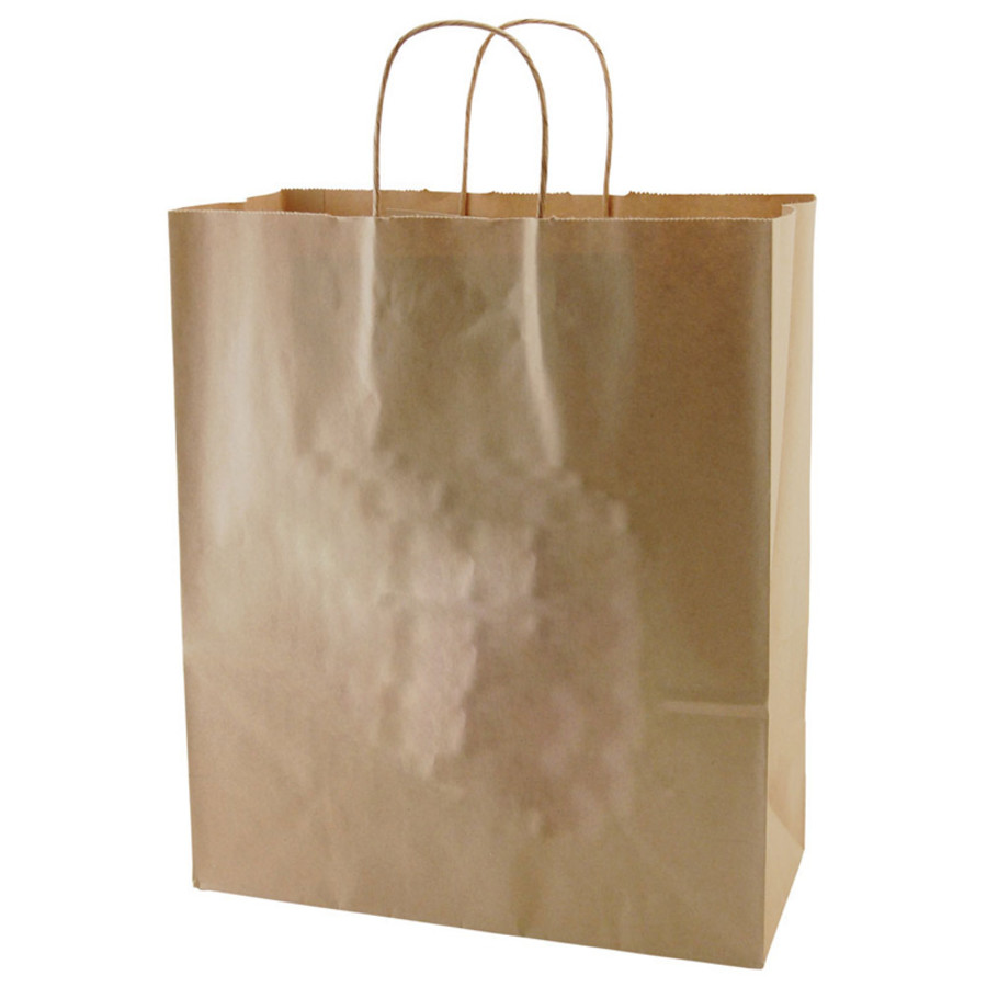 Personalized Recycled Natural Kraft Bags