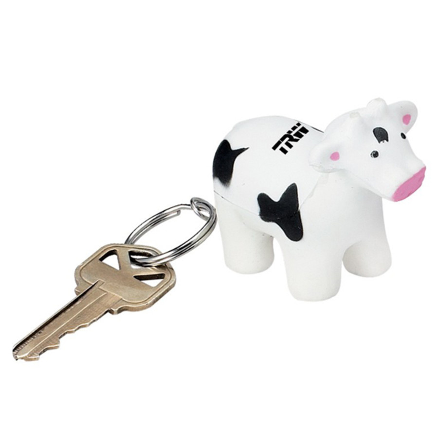 Personalized Cow Stress Reliever Key Chain