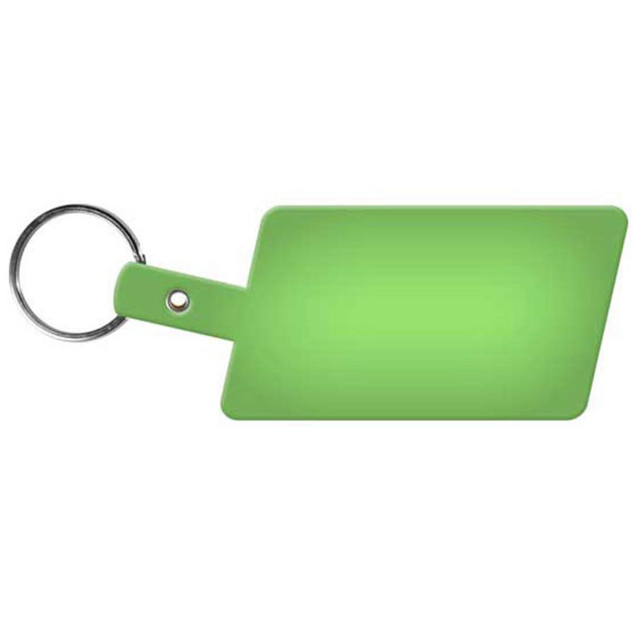 Printable Slanted Rectangle Flexible Key-Tag