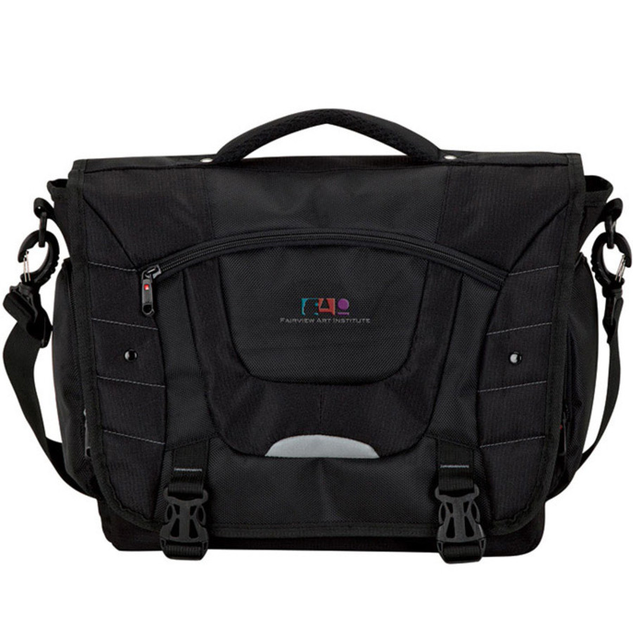 Monogrammed Executive Messenger Bag