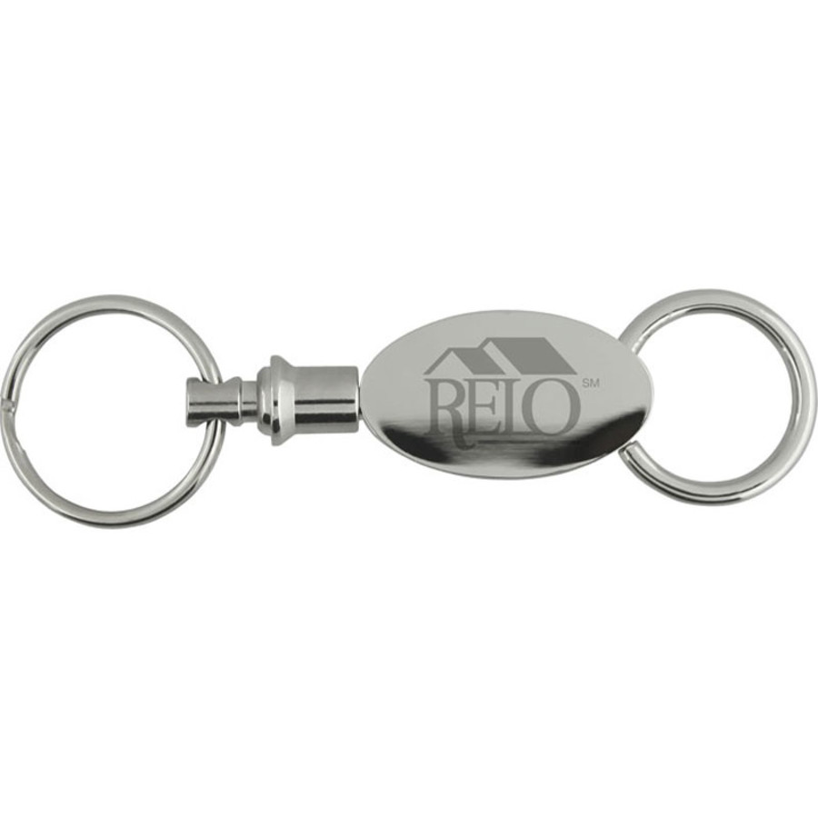 Promotional Elliptical Pull Apart Key Chain