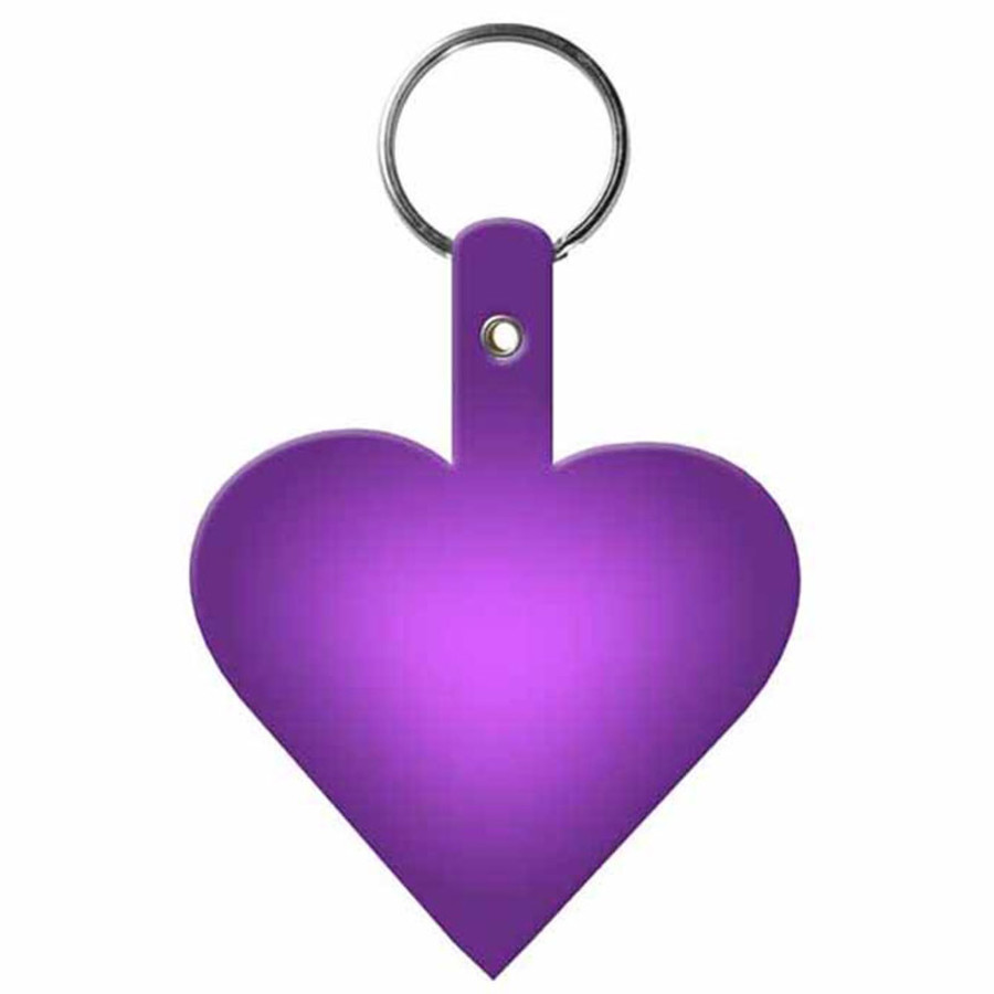 Promotional Heart Flexible Key-Tag