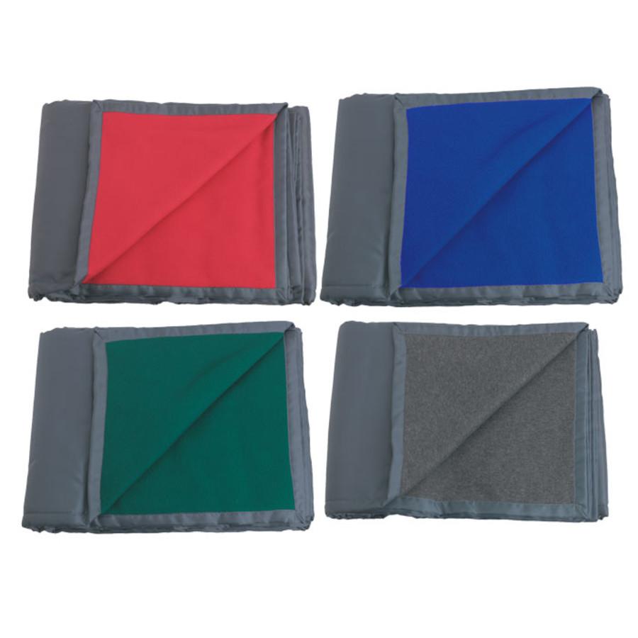 Promotional Reversible Fleece/Nylon Blanket
