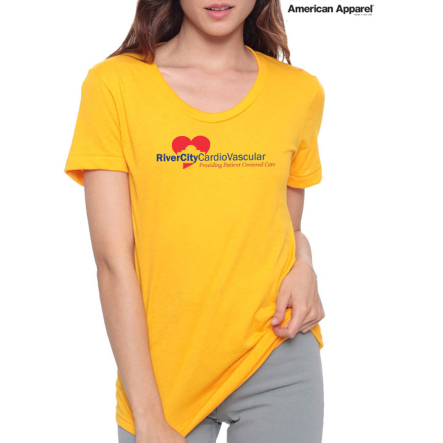 Printed Ladies American Apparel T-Shirt