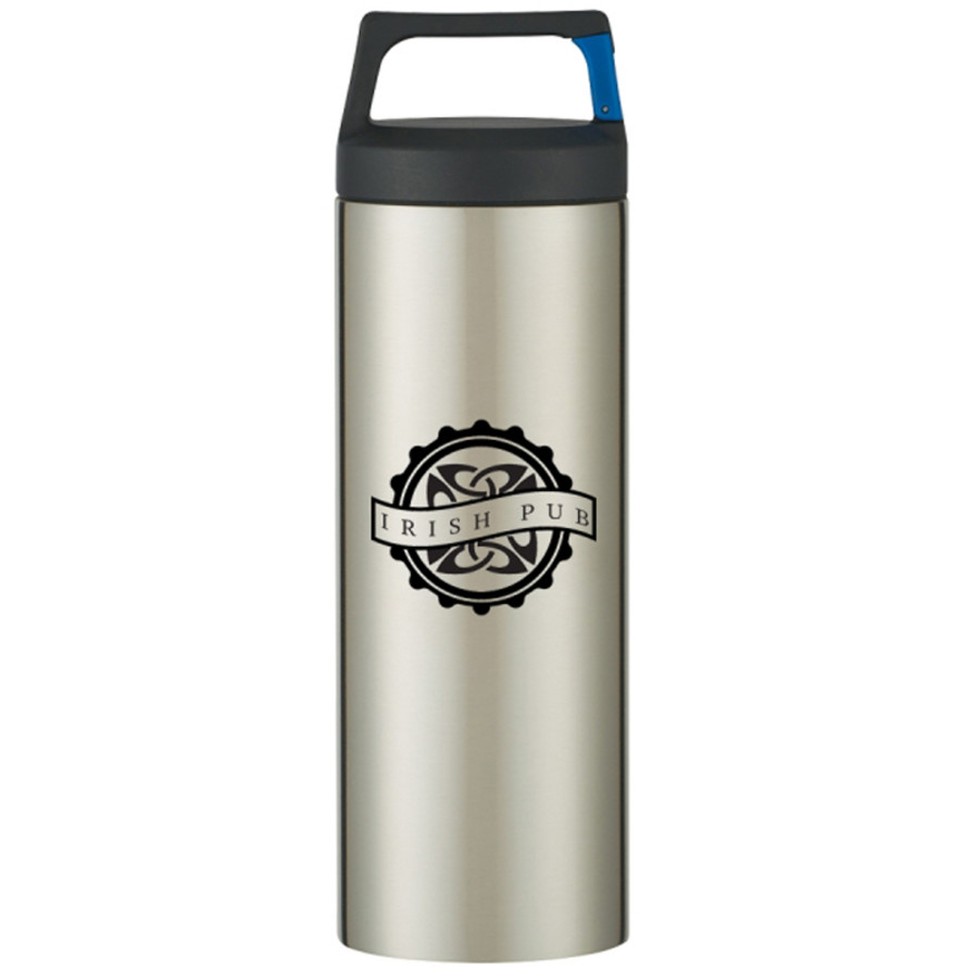 Customizable 18 Oz. Rover Stainless Bottle With Carabiner Clip