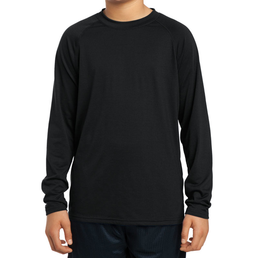 Sport-Tek Youth Long Sleeve Ultimate Performance Crew (Apparel)
