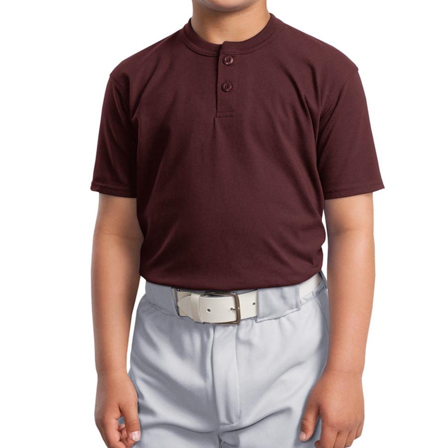 Sport-Tek Youth Short Sleeve Henley (Apparel)