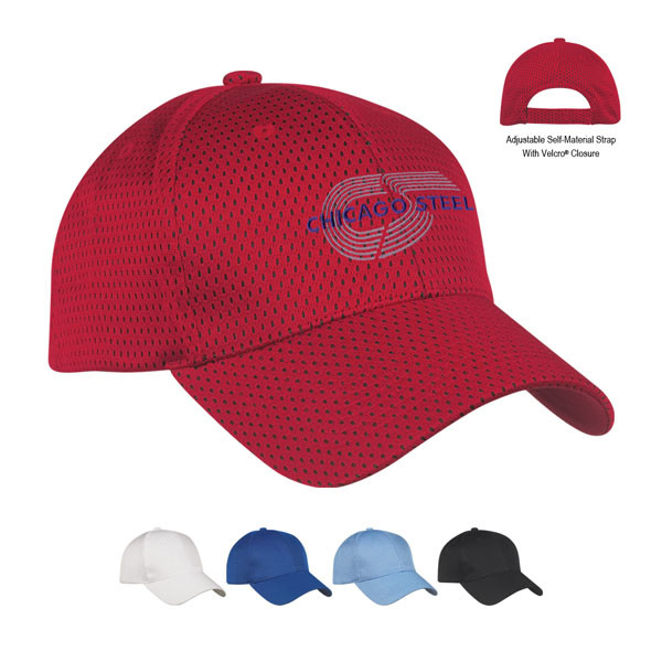 a51a97128 Printed Jersey Mesh Cap - Logo Headwear