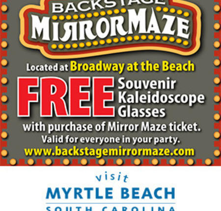 Backstage Mirror Maze - FREE Souvenir Kaleidoscope Glasses