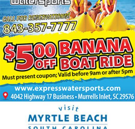 Banana Boat Express - $5 Off Banana Boat Ride
