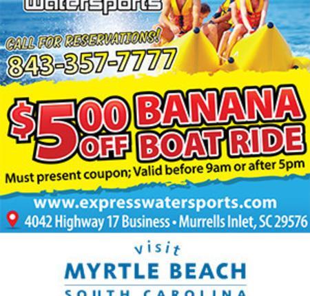 Banana Boat Express - $5 Off Banana Boat Ride